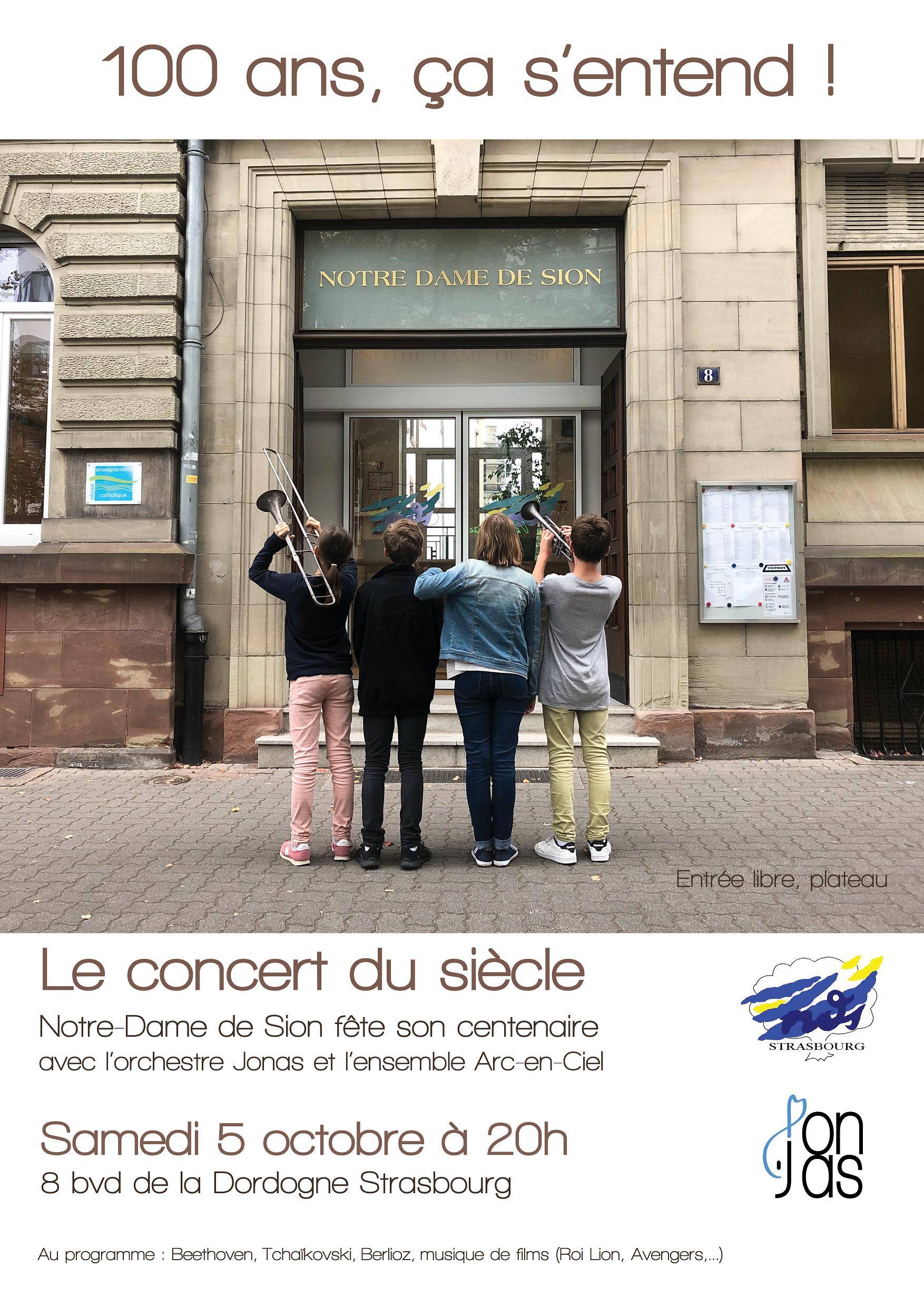 Affiche Concert 100 ans version num